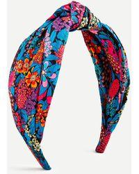 Liberty Turban Knot Headband In ® Print - Blue