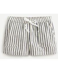 J.Crew Cotton-linen Seaside Short In Stripe - Multicolor