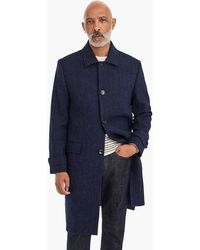 J.Crew - Oversized Topcoat In Heathered Herringbone Wool - Lyst