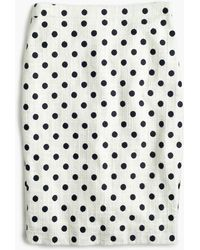 J.Crew - Pencil Skirt In Polka Dot Textured Tweed - Lyst