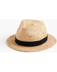 J.Crew Packable Straw Hat - Brown