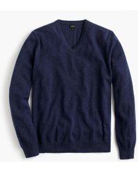 J.Crew Everyday Cashmere V-neck Sweater - Blue