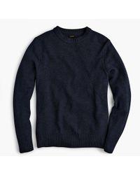 J.Crew - Rugged Merino Wool Heather Crewneck Sweater - Lyst