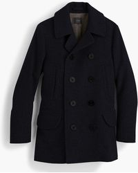 J.Crew Dock Peacoat With Thinsulate - Blue