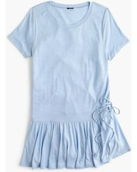 J.Crew - Gathered T-shirt - Lyst