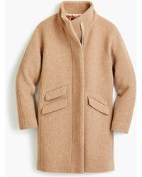J.Crew Petite Cocoon Coat In Italian Stadium-cloth Wool - Natural