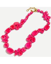 J.Crew Candy Gem Statement Necklace - Multicolour