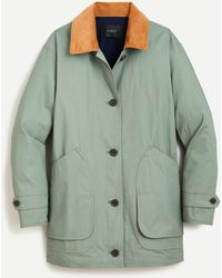 J.Crew Relaxed Barn Jackettm In Cotton-canvas - Green