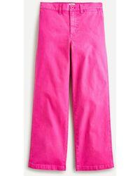 J.Crew Garment-dyed Slim Wide-leg Jean - Pink
