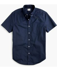 J.Crew - Short-sleeve Stretch Garment-dyed Secret Wash Shirt - Lyst