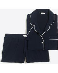 J.Crew - Knit Pajama Short Set - Lyst