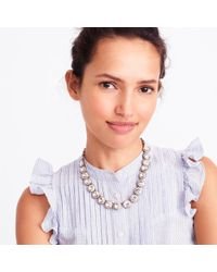 J.Crew - Brass-plated Crystal Necklace - Lyst