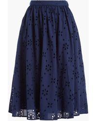 J.Crew Eyelet Skirt - Blue