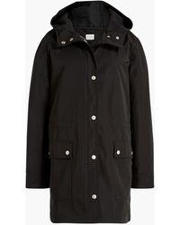 J.Crew Petite Midi-length Raincoat With Snaps - Black