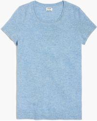 J.Crew - Cashmere Short-sleeve T-shirt - Lyst