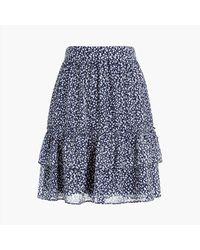 J.Crew Ruffle Mini Skirt - Blue