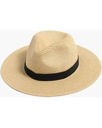 J.Crew Packable Straw Hat - Natural