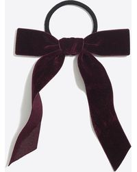 J.Crew - Velvet Bow Hair Tie - Lyst