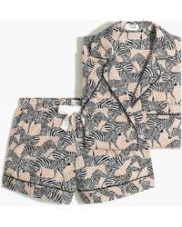 J.Crew Printed Short-sleeve Pajama Set - Multicolor