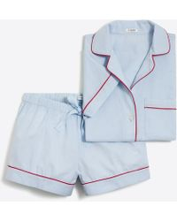 J.Crew - Short-sleeve End-on-end Pajama Set - Lyst
