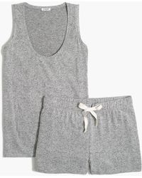 J.Crew Pajama Set In Signature Cozy Yarn - Gray