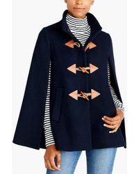 J.Crew - Wool Cape-coat - Lyst