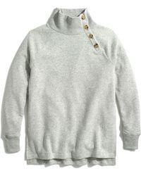 J.Crew Wide Button-collar Tunic Sweatshirt - Multicolor