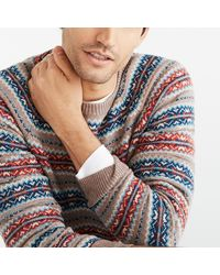 J.Crew Fair Isle Crewneck Sweater In Supersoft Wool Blend - Multicolor