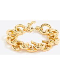 J.Crew - Gold Link Bracelet - Lyst