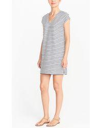 J.Crew - Striped V-neck Dress - Lyst