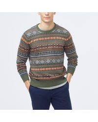 J.Crew Fair Isle Sweater In Supersoft Wool Blend - Gray