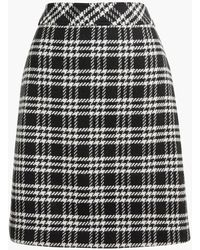 J.Crew Wool-blend A-line Skirt - Black