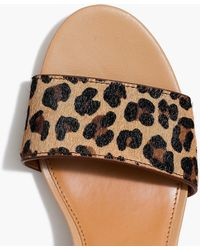 2beddd29794e J.Crew - Calf Hair Block-heel Sandals - Lyst