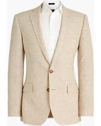 J.Crew Slim Thompson Suit Jacket In Glen Plaid Linen - Multicolor