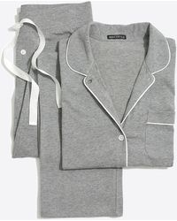J.Crew Knit Pajama Set - Gray