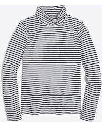 J.Crew - Striped Tissue Turtleneck - Lyst