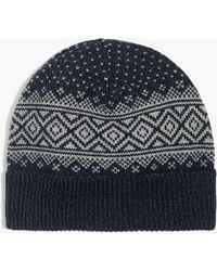 4cfd8da3a8904 Polo Ralph Lauren Mens Wool Fair Isle Winter Hat in Blue for Men - Lyst