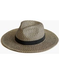 J.Crew Marled Wide-brim Packable Hat - Black