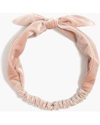 J.Crew Velvet Knot Headband - Multicolor