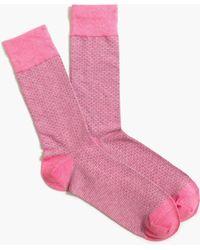 J.Crew Solid Heathered Socks - Pink