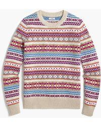 J.Crew Allover Fair Isle Sweater - Red