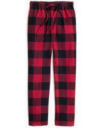 J.Crew Flannel Sleep Pant - Red