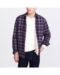 J.Crew - Sherpa-lined Flannel Jacket - Lyst