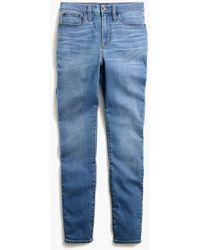 "J.Crew 10"" Highest-rise Skinny Jean With Grind Hem In Worn Blue Wash"
