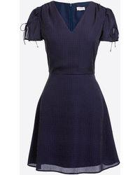 J.Crew - Printed Short-sleeve Tie-shoulder Dress - Lyst
