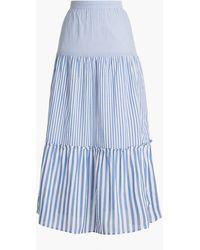 J.Crew Tiered Ruffle Maxi Skirt - Blue