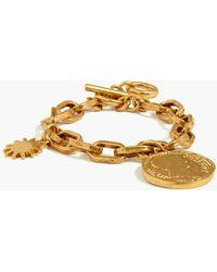 J.Crew Celestial Coin Charm Bracelet - Metallic