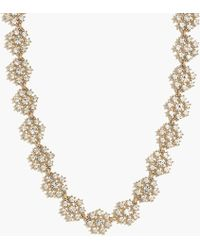 J.Crew - Crystal Snowflake Statement Necklace - Lyst
