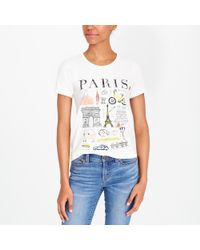J.Crew - Paris Collector T-shirt - Lyst