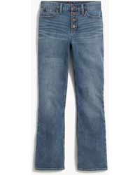 J.Crew High-rise Flare Crop Jean With Button Fly In Medium Vintage Wash - Blue